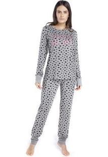 Pijama Inspirate De Inverno All Day Feminino - Feminino-Cinza