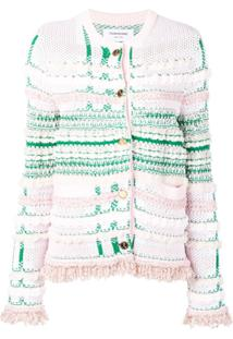 Thom Browne Jaqueta De Tweed - Rosa