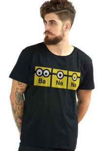 Camiseta Bandup! Minions Banana - Masculino-Preto