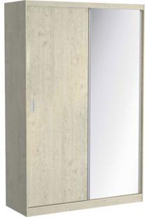 Guarda Roupa 02 Portas De Correr C/ 1 Espelho 813E1 Marfim Areia Foscarini
