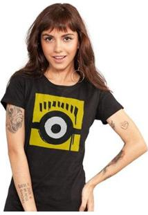 Camiseta Bandup! Minions Olho - Feminino-Preto
