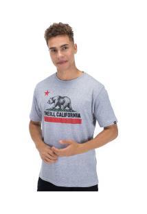 Camiseta O'Neill Califórnia Republic - Masculina - Cinza