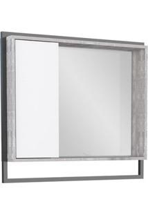 Espelheira De Sobrepor Apoema 70X79,5Cm Branco E Calcare Cozimax