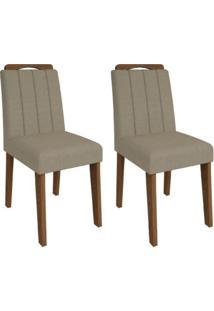 Cadeira Elisa Conjunto 2 Peças Savana/Caramelo Cimol