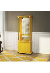 Cristaleira 4 Portas Monalisa Amarelo - Imcal