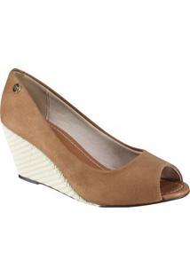 Sapato Feminino Moleca Peep Toe