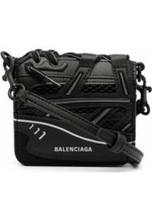 Balenciaga Sneak Crossbody Wallet - 1000 Black