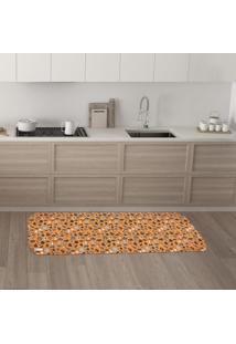 Tapete De Cozinha Mdecore Diversos Laranja 40X120Cm