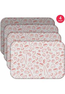 Jogo Americano Love Decor Wevans Sketches Oriental Kit Com 4 Pçs