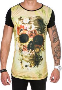 Camiseta Lucas Lunny Oversized Longline Creme