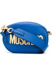 Moschino Bolsa Tiracolo Com Logo Rossa - Azul