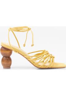 Sapato+Faccine+Sandalia+Amarelo - Tricae