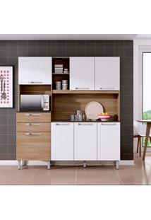 Cozinha Compacta Canela 7 Pt 2 Gv Carvalho E Branca