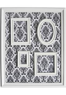 Porta Retratos Magnetico 46X57 Barroque Multiple Frame Branco