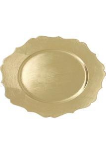 Sousplat De Plástico Le Clássico Dourado 33Cm