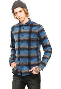 Camisa Billabong Flanelada Xadrez Azul/ Cinza