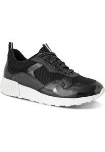 Tênis Prime Shoes Jogging Sneaker Chunky Ugly Feminino - Feminino-Preto