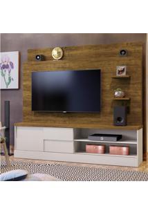 Estante Home Para Tv Até 55 Polegadas 1 Porta Samara Siena Móveis Off White/Cânion