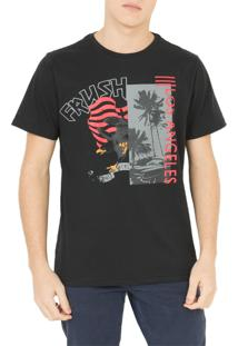 Camiseta Frush Eagle Flag Preta