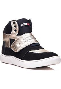 Tênis Sneaker Cano Alto Rockfit U2 Em Couro Feminino - Feminino
