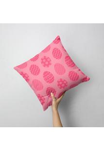 Capa De Almofada Multi Ovos Pink 35X35Cm