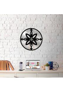Escultura De Parede Wevans Mandala Positive + Espelho Decorativo