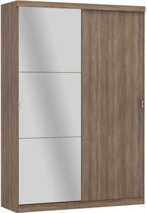 Guarda Roupa Solteiro Com Espelho A529-No 4V Nogal - Kappesberg