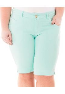 Bermuda Confidencial Extra Plus Size Sarja Feminina - Feminino
