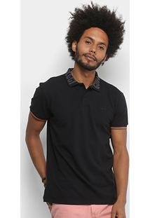 Camisa Polo Colcci Frisos Logo Masculina - Masculino