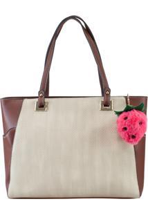 Bolsa Ella Store Ca242 Marfim