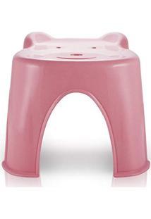 Banquinho Banco Anatômico Infantil Criança Com Formato De Ursinho Jacki Design Rosa