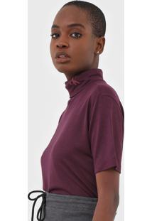 Blusa Calvin Klein Jeans Gola Rol㪠Bord㴠- Bord㴠- Feminino - Viscose - Dafiti