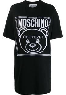 Moschino Vestido 'Teddy Bear' Com Logo - Preto