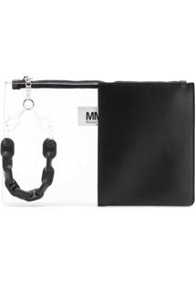 Mm6 Maison Margiela Bolsa Clutch - Preto