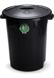 Lixeira Com Tampa Para Cozinha 18 Litros 34Cm Plã¡Stico - Transparente - Dafiti