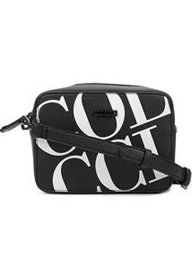 Bolsa Colcci Mini Bag Maxi Logo Feminina - Feminino-Preto+Branco