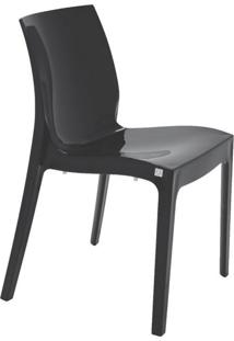 Cadeira Alice Sem Braços Polipropileno Tramontina Preto