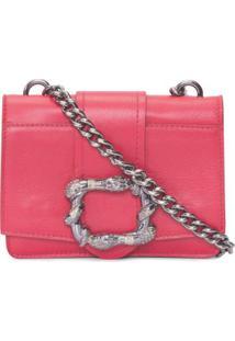 Bolsa Mini Buckle Snake Animale - Vermelho