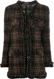 Dolce & Gabbana Jaqueta De Tweed Xadrez - Marrom