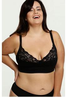 Sutiã Feminino Com Base Sem Aro E Sem Bojo Plus Size Dilady