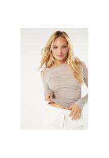 Blusa Modal Cashmere Ultralight Decote Canoa - Off-White M