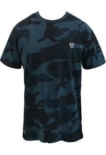 Camiseta Thug Nine Blue Camuflada - Masculino