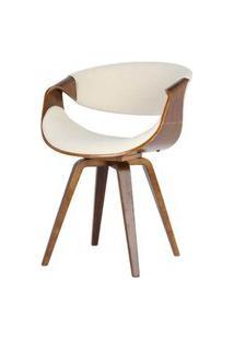 Cadeira Nicole Tecido Linho Cor Bege - 31699 Preto