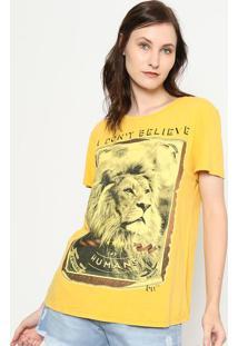 "Camiseta ""I Don'T Believe"" - Amarela & Cinza - My Famy Favorite Things"
