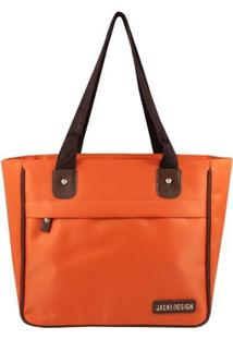 Bolsa Jack Design Shopper Lisa - Feminino-Laranja
