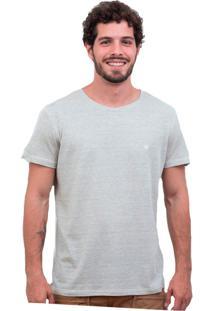 Camiseta Limits Fio Tinto Bardot Coruja Rj Cinza