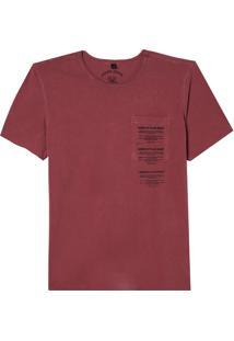 Camiseta John John Plain Sight Masculina (Red Dahlia, P)