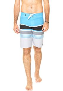 Bermuda Água Quiksilver Everday Stripe Hawaiian Ocean Multicolorida