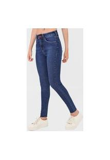Calça Jeans Oh, Boy! Skinny Pespontos Azul