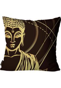 Capa Para Almofada Premium Cetim Mdecore Buda Marrom 45X45Cm
